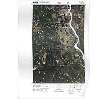USGS Topo Map Washington State WA Ione 20110428 TM Poster
