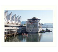 Princess Cruise Liner, Alongside Canada Place, Vancouver 2012. Art Print