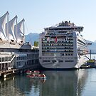 Princess Cruise Liner, Alongside Canada Place, Vancouver 2012. by johnrf