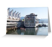 Princess Cruise Liner, Alongside Canada Place, Vancouver 2012. Greeting Card