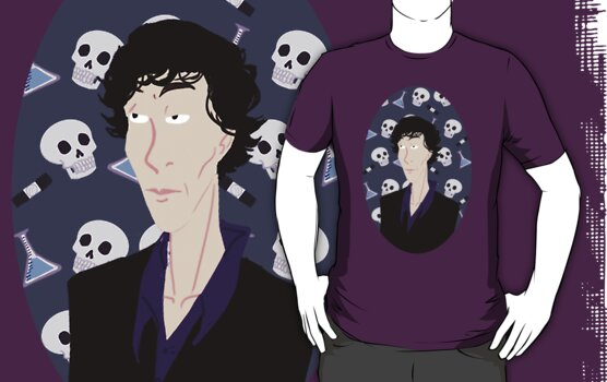 bust of sherlock tee by afrox