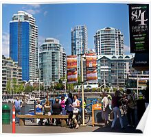 Vancouver downtown, Granville Island, 2012. Poster