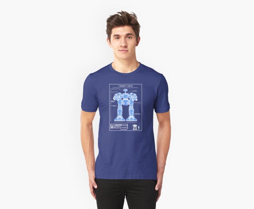 WALL-ED-209 Blueprint by Baardei