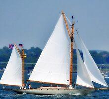 Sailing in Newport , Rhode Island # 2 by Unelanvhi
