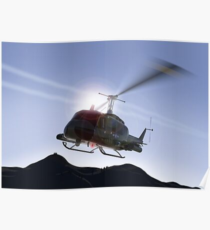 Huey Flyby Poster
