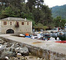 Skala Potamia Harbour. Thassos, Greece. by ronsaunders47