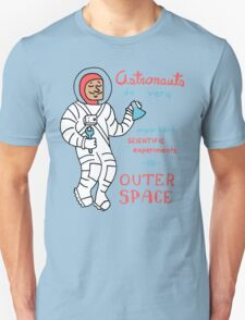 Scientific Astronauts - funny cartoon drawing with handwritten text T-Shirt