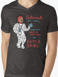 Scientific Astronauts - funny cartoon drawing with handwritten text Mens V-Neck T-Shirt
