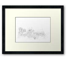 Notre Dame Cathedral - urban sketch Framed Print