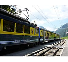Swiss train near Grindelwald in the Bernese Oberland. Photographic Print