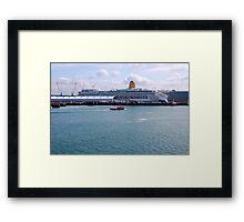 SOUTHAMTON DOCKS. MV AURORA. P&O CRUISES. Framed Print