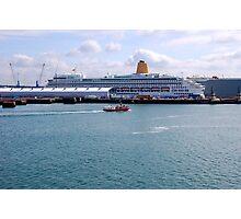 SOUTHAMTON DOCKS. MV AURORA. P&O CRUISES. Photographic Print