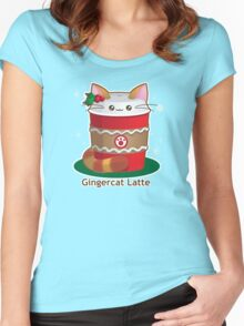 Purrista Pawfee: Cute Christmas Coffee Cat Women's Fitted Scoop T-Shirt