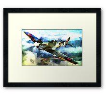 "WW2 ""Supermarine Spitfire"" 1936 Framed Print"