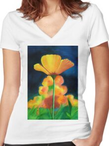 Floral Beauty- Original Stickers and Prints Women's Fitted V-Neck T-Shirt