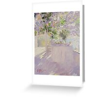 On the Terrace Greeting Card