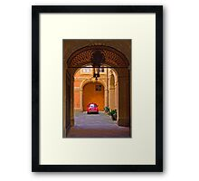 Courtyard in Siena Framed Print