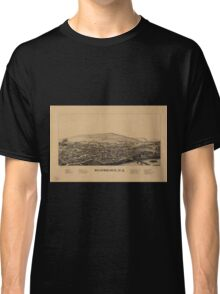 Panoramic Maps Bainbridge NY Classic T-Shirt
