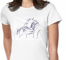 Horses together 10 Womens Fitted T-Shirt
