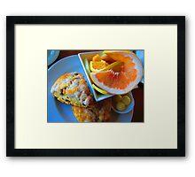 Alderbrook's Scones & Fruit Framed Print