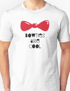 Bowties Are Cool-Black Lettering Unisex T-Shirt