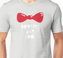 Bowties Are Cool-White Lettering Unisex T-Shirt