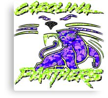 PANTHERS WHITE Canvas Print