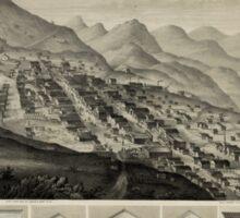 Panoramic Maps Virginia City Nevada Territory 1861 Sticker