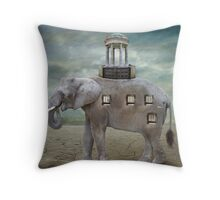 Elephant Hotel Throw Pillow