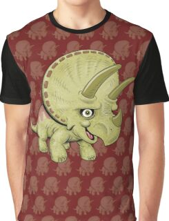 Cute Triceratops Graphic T-Shirt