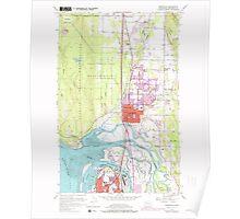 USGS Topo Map Washington State WA Marysville 242206 1956 24000 Poster