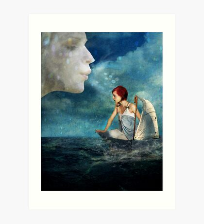 As the Wind Blows Art Print