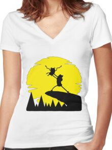 Adventure Time Women's Fitted V-Neck T-Shirt