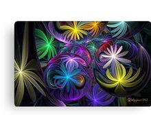 Loonie Flowers Canvas Print