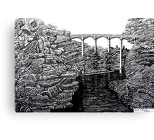 238 - PONTCYSYLLTE AQUEDUCT - DAVE EDWARDS INK - 2012 Canvas Print