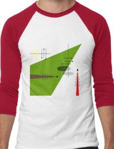 Mid-Century Modern Abstract Orange Men's Baseball ¾ T-Shirt
