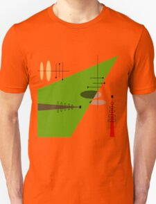 Mid-Century Modern Abstract Orange Unisex T-Shirt