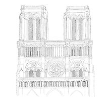 Notre Dame Cathedral - urban sketch by thelazypigeon