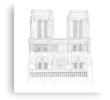 Notre Dame Cathedral - urban sketch Canvas Print