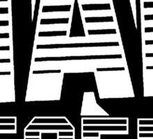 Mad Decent - black & white 2 Sticker