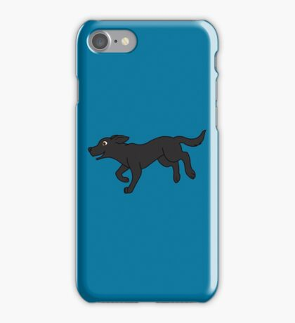 Black Labrador Retriever Running iPhone Case/Skin
