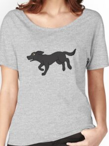 Black Labrador Retriever Running Women's Relaxed Fit T-Shirt
