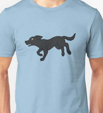 Black Labrador Retriever Running Unisex T-Shirt
