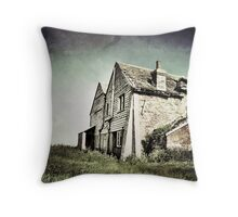 Browns abandoned Farm Throw Pillow