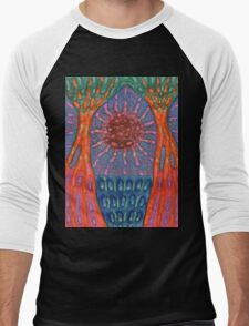 Sun And Trees Men's Baseball ¾ T-Shirt