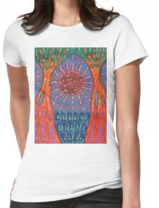 Sun And Trees Womens Fitted T-Shirt