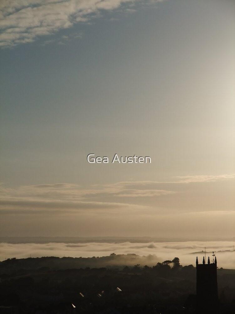 DAWN , NORTHAM MARINE LAYER CLOUDS by Gea Austen