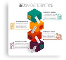 ENTJ Sarcastic Functions Canvas Print