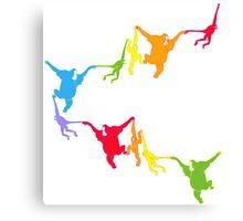 Rainbow Monkeys Canvas Print
