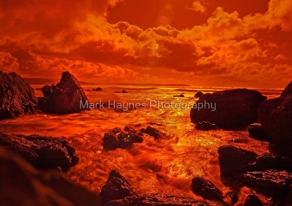 Liquid Fire 3 -Infra Red Beach by Mark Haynes Photography